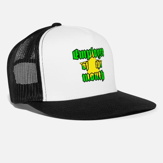 Gift Idea Caps & Hats - Employee of the month - star - Trucker Cap white/black