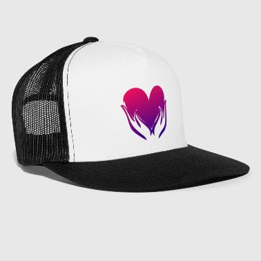 Illustration de coeur - Trucker Cap