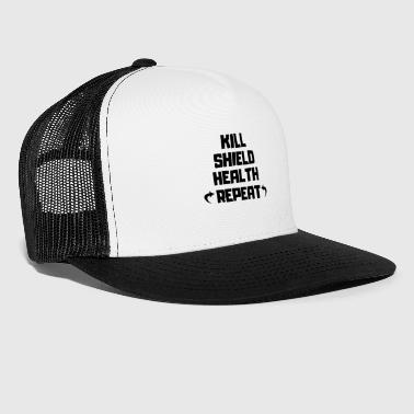 Kill / Shield / Health / Powtórz T-Shirt - Trucker Cap