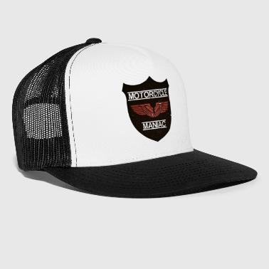 Motorcycle Maniac - Red Wing - Trucker Cap