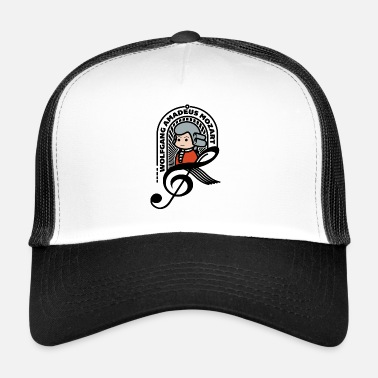 Wolfgang Mozart Sweet Portrait Note Black Cool Gift - Trucker Cap