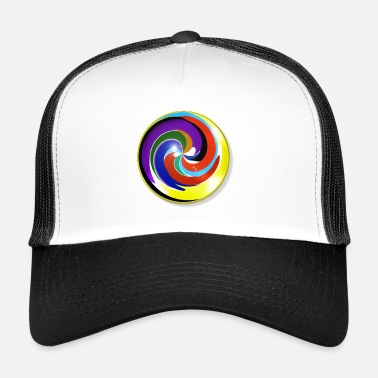 Marble Multicolored and shiny marble - Trucker Cap