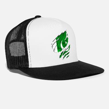 Country Flag Football Sport And Arab Art Jesus country flag pakistan - Trucker Cap