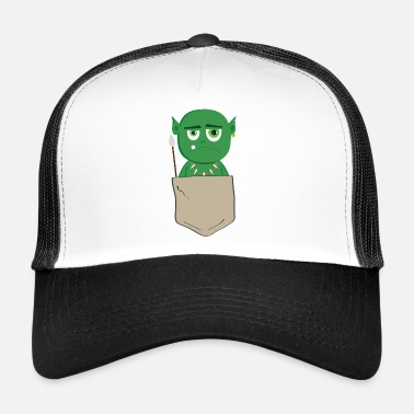 Goblin Funny goblin in breast pocket - Trucker Cap