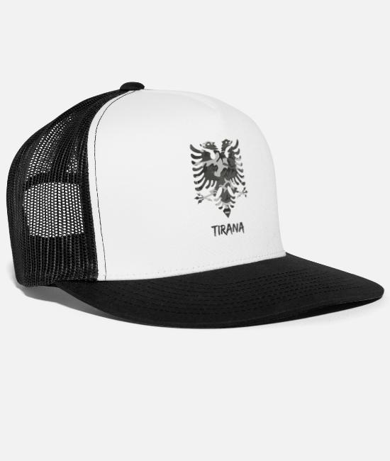 Birthday Caps & Hats - Albania flag camouflage Tirana - Trucker Cap white/black
