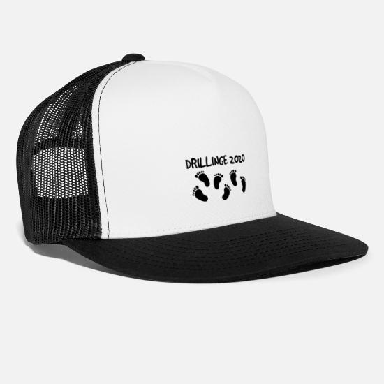 Gift Idea Caps & Hats - Triplets 2020 - Trucker Cap white/black