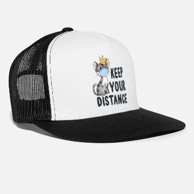 Cat Keep Your Distance keep your distance cat with crown - Trucker Cap