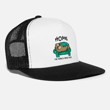 Sofa Home office funny saying sloth sofa gift - Trucker Cap