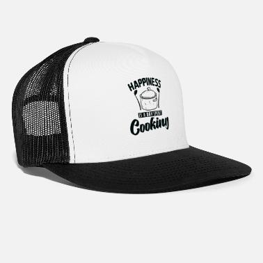 No Meat Happiness is A Day Spent Cooking Cooking - Trucker Cap