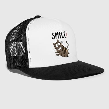 Smile Cheshire Cat - Cat - Koty - Heart - Kot - Trucker Cap