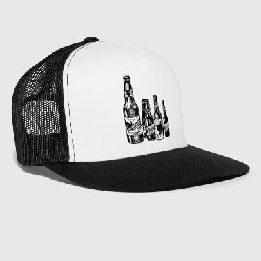 Beer bottles vintage retro - Trucker Cap