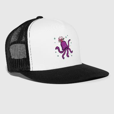 Octopus with hair octopus octopus fish - Trucker Cap