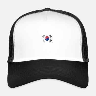 Sur Grungy I Love South Korea Heart Flag - Gorra de camionero