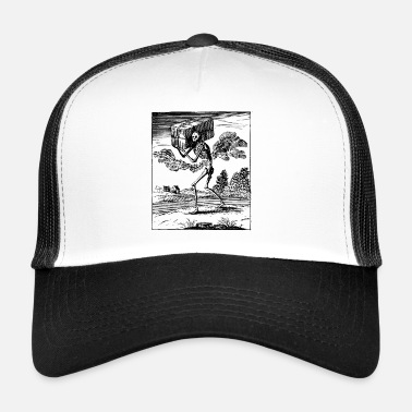 Death Gothic Skeleton Metal - Trucker Cap