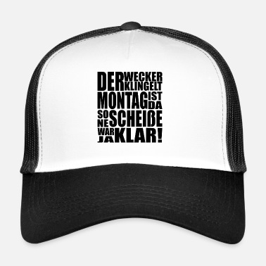 Ironi Måndag humor motivation stress present - Trucker Cap