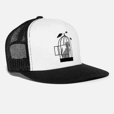 Bird Cage Cats in bird cage - Trucker Cap