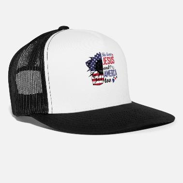 Sheriff She Loves Jesus And America Too Patriotic T Shirt - Trucker Cap
