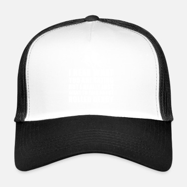 Derby Funny Roller Derby Gift Idea - Trucker Cap