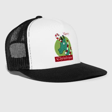 Unicorn julskjorta Christmas Unicorn funny - Trucker Cap