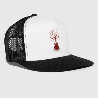 Guitare & Tree Art, guitare et arbre - Trucker Cap