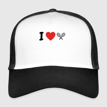 I love TENNIS png - Trucker Cap