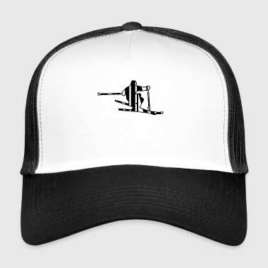 Skiing Gift Ski Resort Ski Freestyle Instructor - Trucker Cap