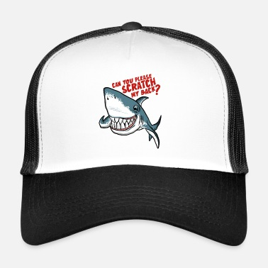 Jaws Great White Shark Scratch My Back - Trucker Cap