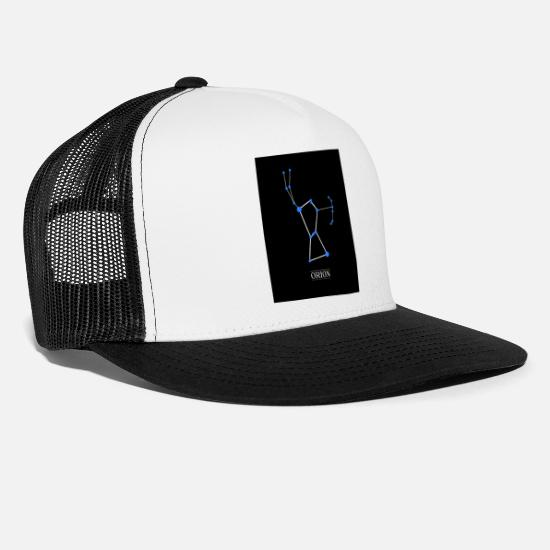 Constellation Casquettes et bonnets - Constellation Orion - Casquette trucker blanc/noir