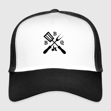 Barbecue barbecue temps cadeau barbecue saucisse viande - Trucker Cap