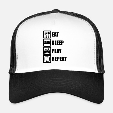 Sleep eat sleep play repeat gaming - Trucker Cap