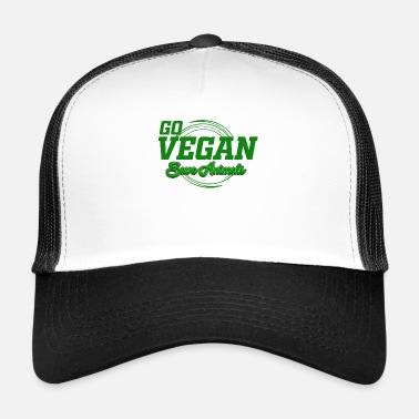 Troupes T-shirt Vegan - Go Vegan Safe Animals - Cadeau - Trucker Cap
