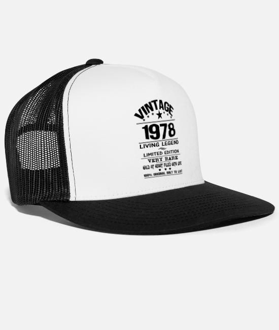 Since 1978 Caps & Hats - VINTAGE 1978 - Trucker Cap white/black
