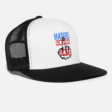 Finger Haters gonna hate - Trucker Cap
