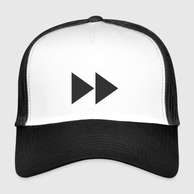 Fast forward | Symbol | Black | gift idea - Trucker Cap