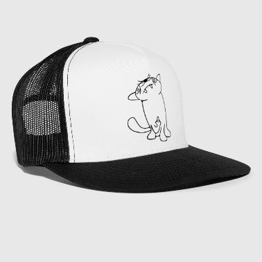 tough life cat, Assi Katze - Trucker Cap