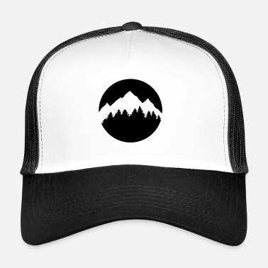 Montana Forest and Mountains - Trucker Cap