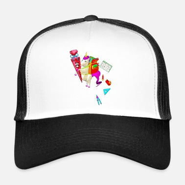 Unicorn goes to school - Trucker Cap