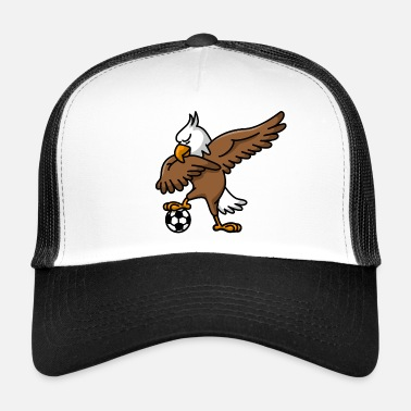 White &amp Dabbing dab American Eagle soccer football - Trucker Cap