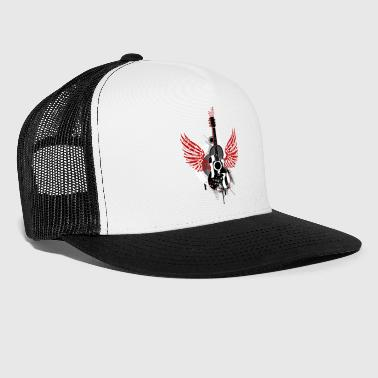 Guitar wings swing Graffiti rock music dance - Trucker Cap