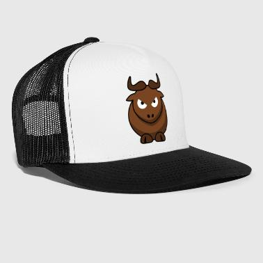 Sweet bull with horns evil eye offensive - Trucker Cap