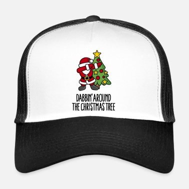 Ful Dabbin' around the Christmas tree - Text - Trucker Cap