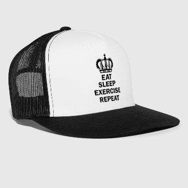 Eat Sleep OEFENING herhaling wordt - Trucker Cap