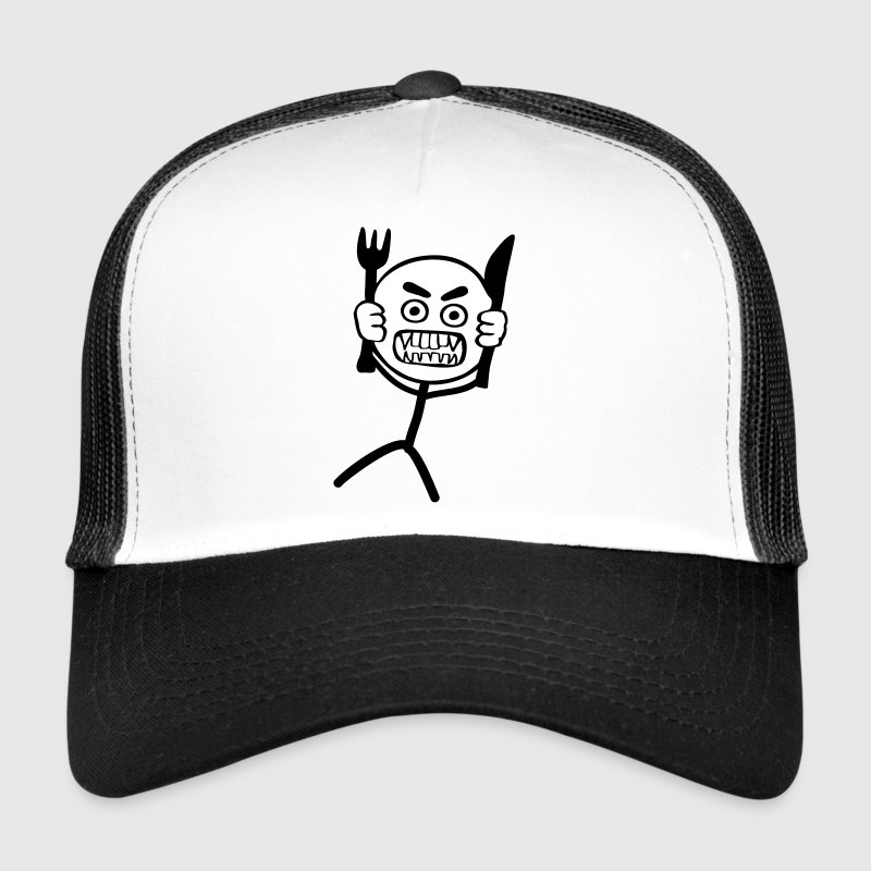 Hangry Stickman - 2 colors - Trucker Cap