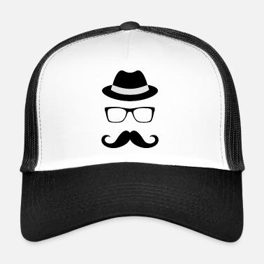 Moustaches Chapeau Lunettes chapeau moustache moustache - Trucker Cap 8dbe3bab171a