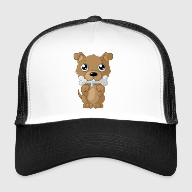 Nibbling cartoon dog - Trucker Cap