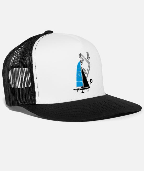 Water Caps & Hats - technical sailing yacht no.3 the sportive - Trucker Cap white/black