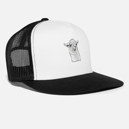 Carpathian Caps & Hats - alpaca - Trucker Cap white/black