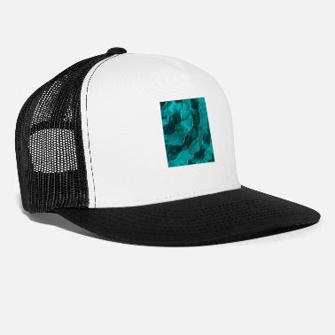 Mermaid Green blue gold lines - Trucker Cap