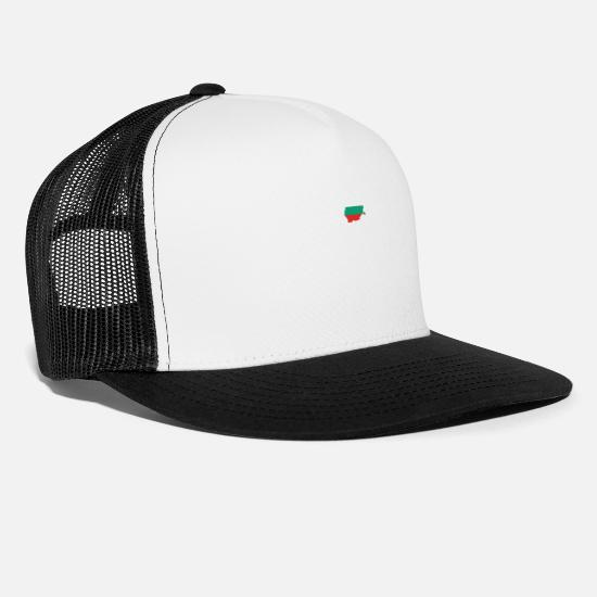 Gold Beach Caps & Hats - Bulgaria - Trucker Cap white/black