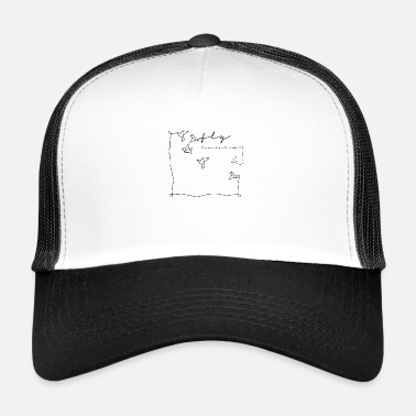 Birdman Origami fly bird flying bird - Trucker Cap
